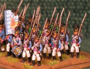 15mm, Napoleonic Bavarian 7th Line Infantry AB 24 figures
